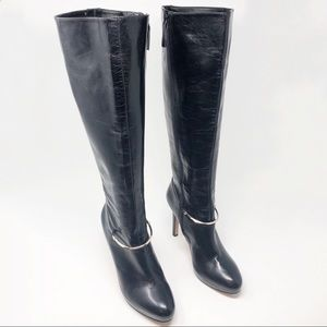 Nine West Pearson Leather Tall Boots (Wide Calf)